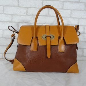 Dooney & Bourke Leather Shoulder Bag Satchel Tote